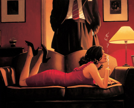 Parlour Of Temptation by Jack Vettriano
